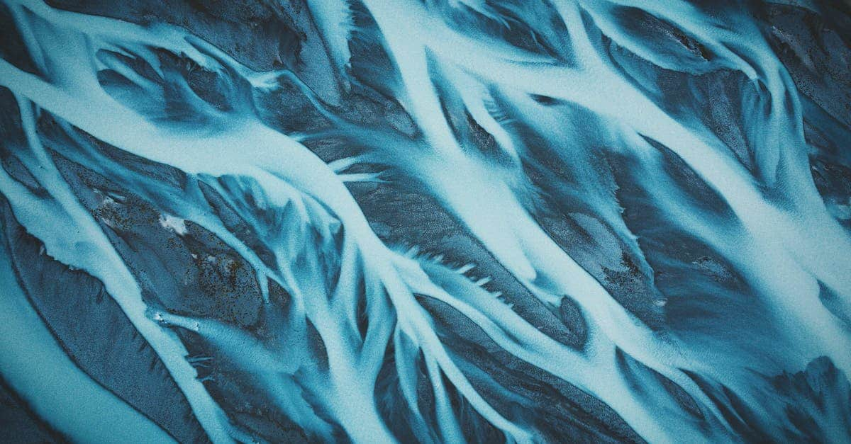 A close up of a waterfall